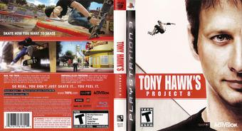Tony Hawk's Project 8 PS3 cover (BLUS30011)