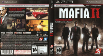 Mafia II PS3 cover (BLUS30281)