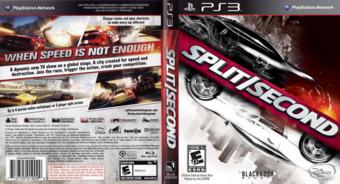 Split / Second PS3 cover (BLUS30300)