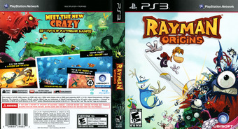 Rayman Origins PS3 cover (BLUS30836)