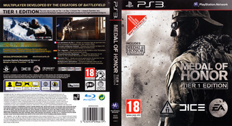 Medal of Honor PS3 cover (BLES00860)