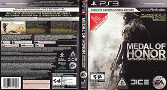 Medal of Honor PS3 cover (BLUS30436)