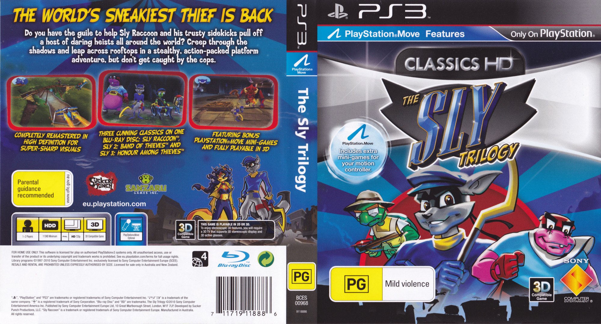 The Sly Trilogy PS3 coverfullHQ (BCES00968)