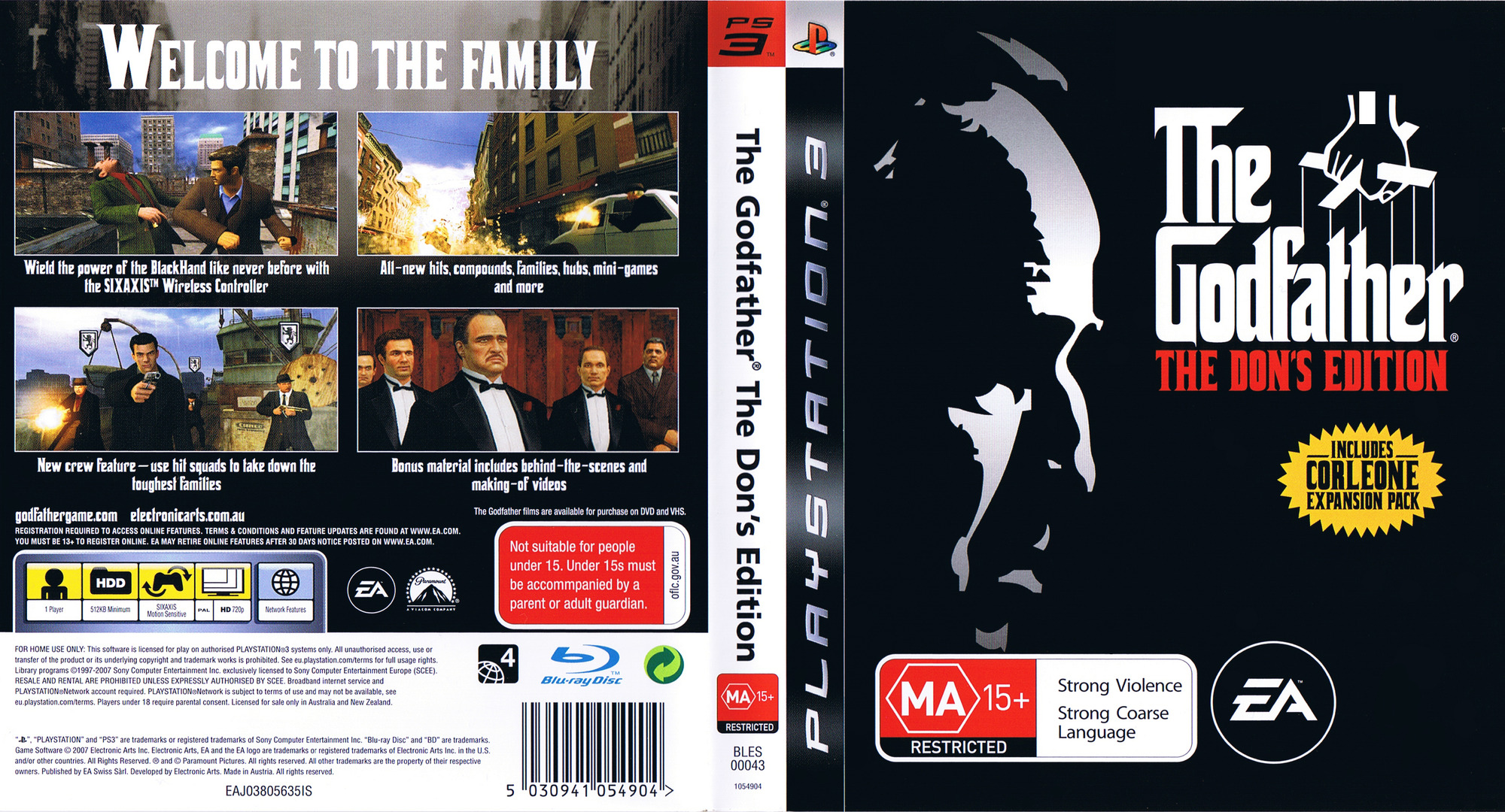 The Godfather: The Don's Edition PS3 coverfullHQ (BLES00043)