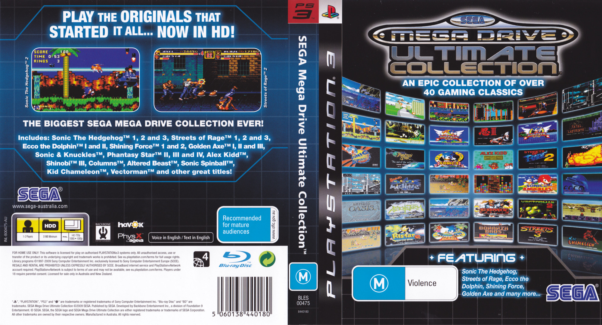 Sega Mega Drive: Ultimate Collection PS3 coverfullHQ (BLES00475)