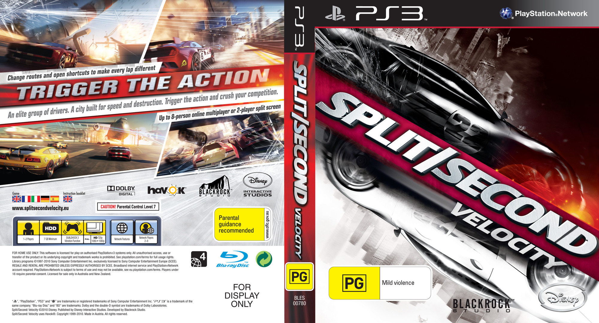 Spit/Second: Velocity PS3 coverfullHQ (BLES00780)