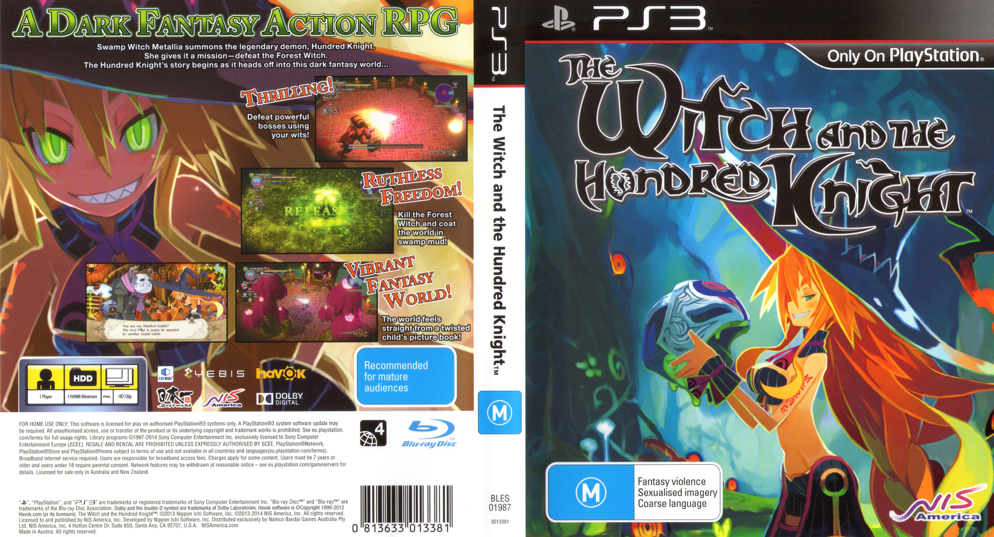 The Witch and the Hundred Knight PS3 coverfullHQ (BLES01987)