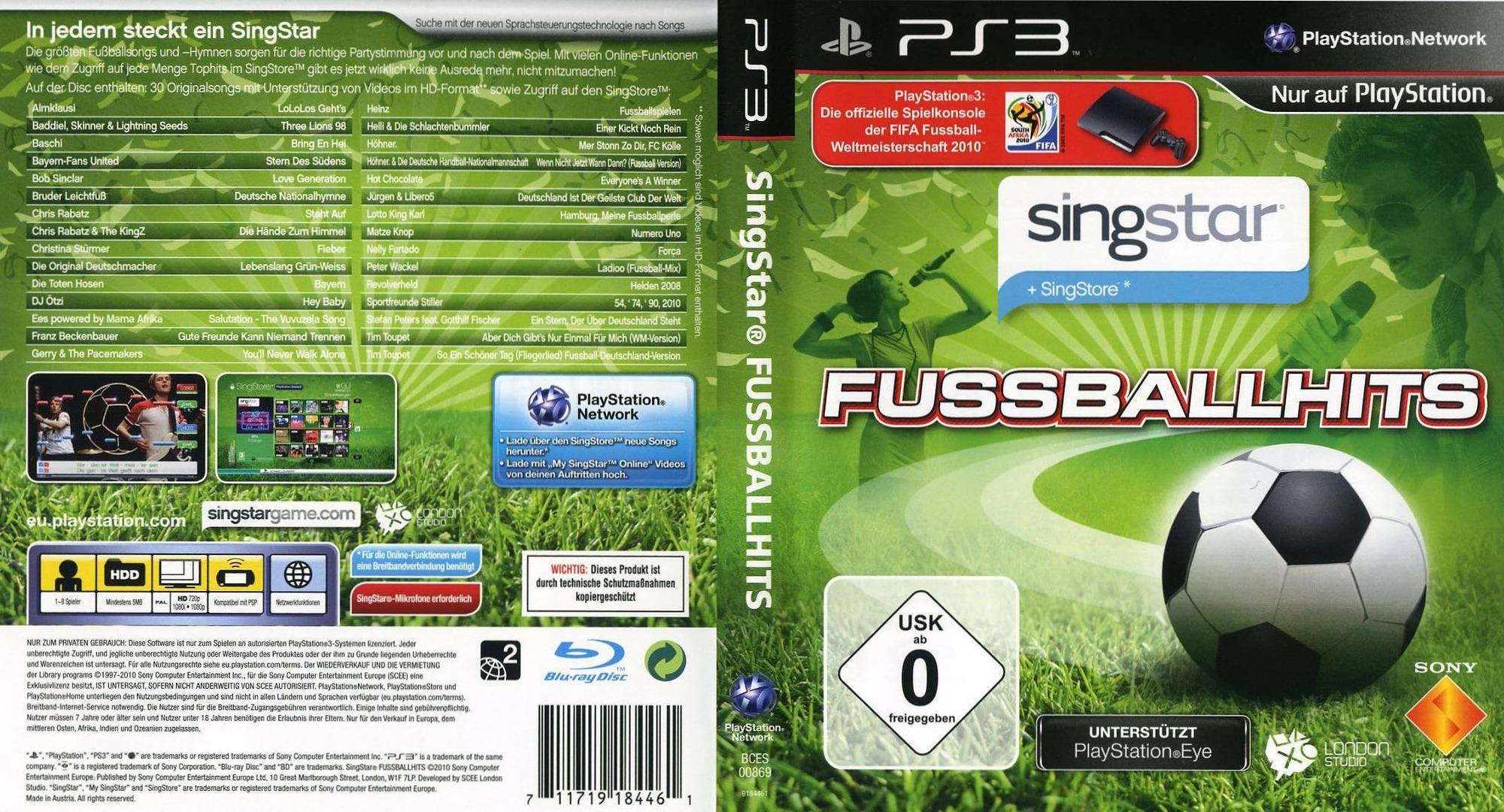 SingStar: Fussball Hits PS3 coverfullHQ (BCES00869)