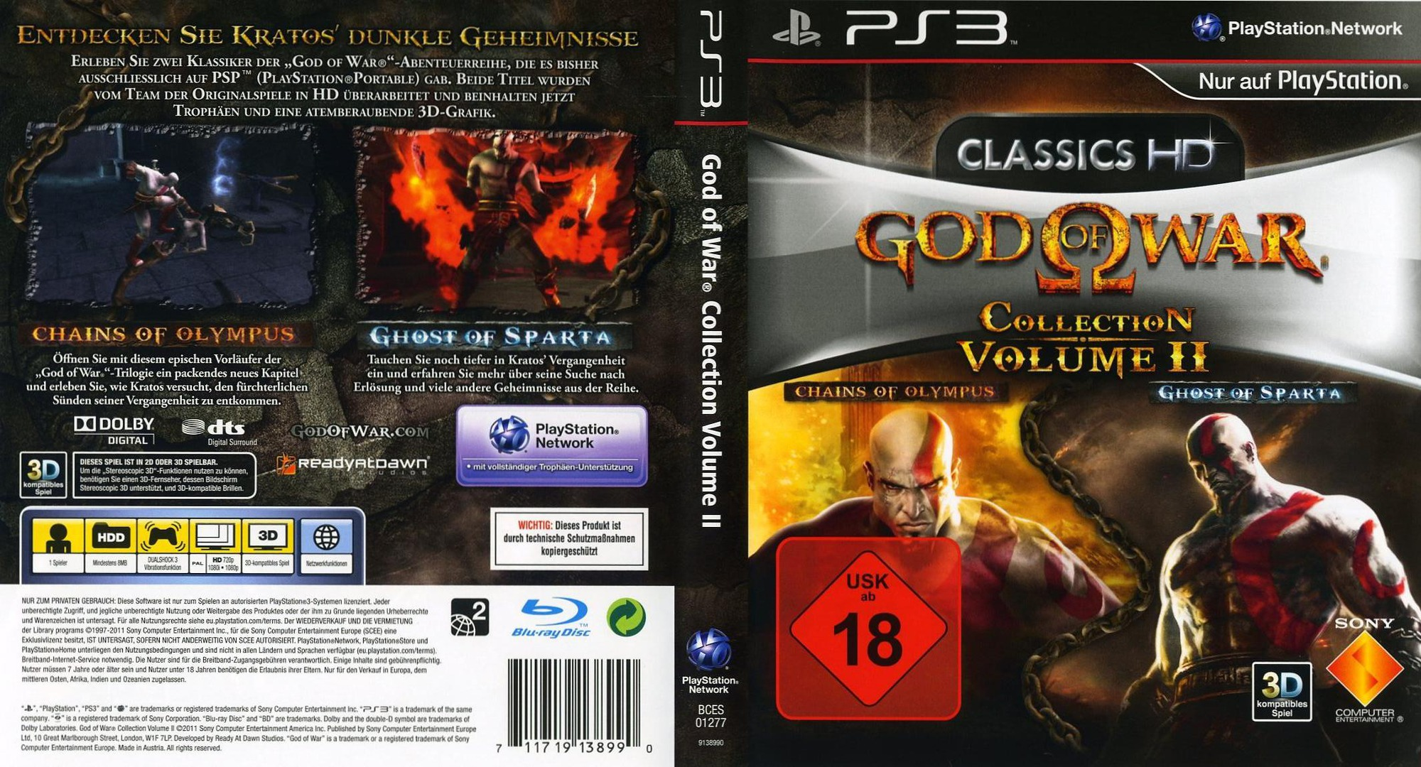 Bces01277 God Of War Collection Volume Ii