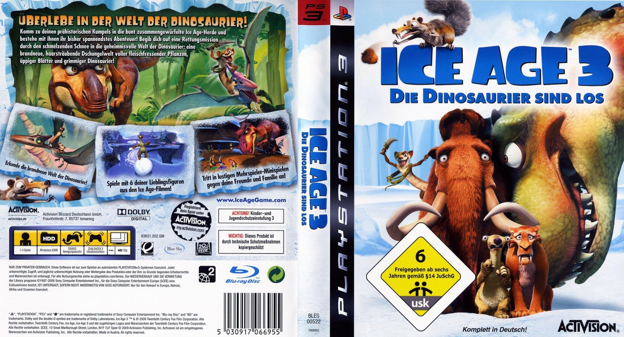 Ice Age 3: Die Dinosaurier Sind Los PS3 coverfullHQ (BLES00522)