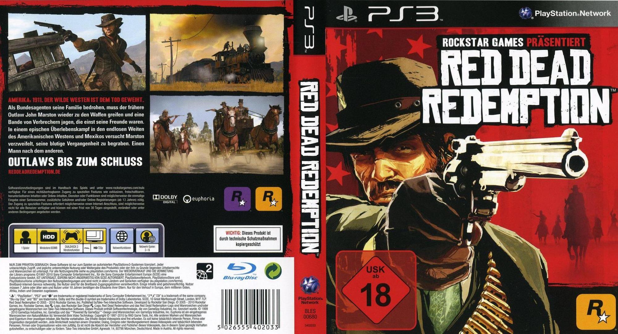 لعبة red dead redemption ps3