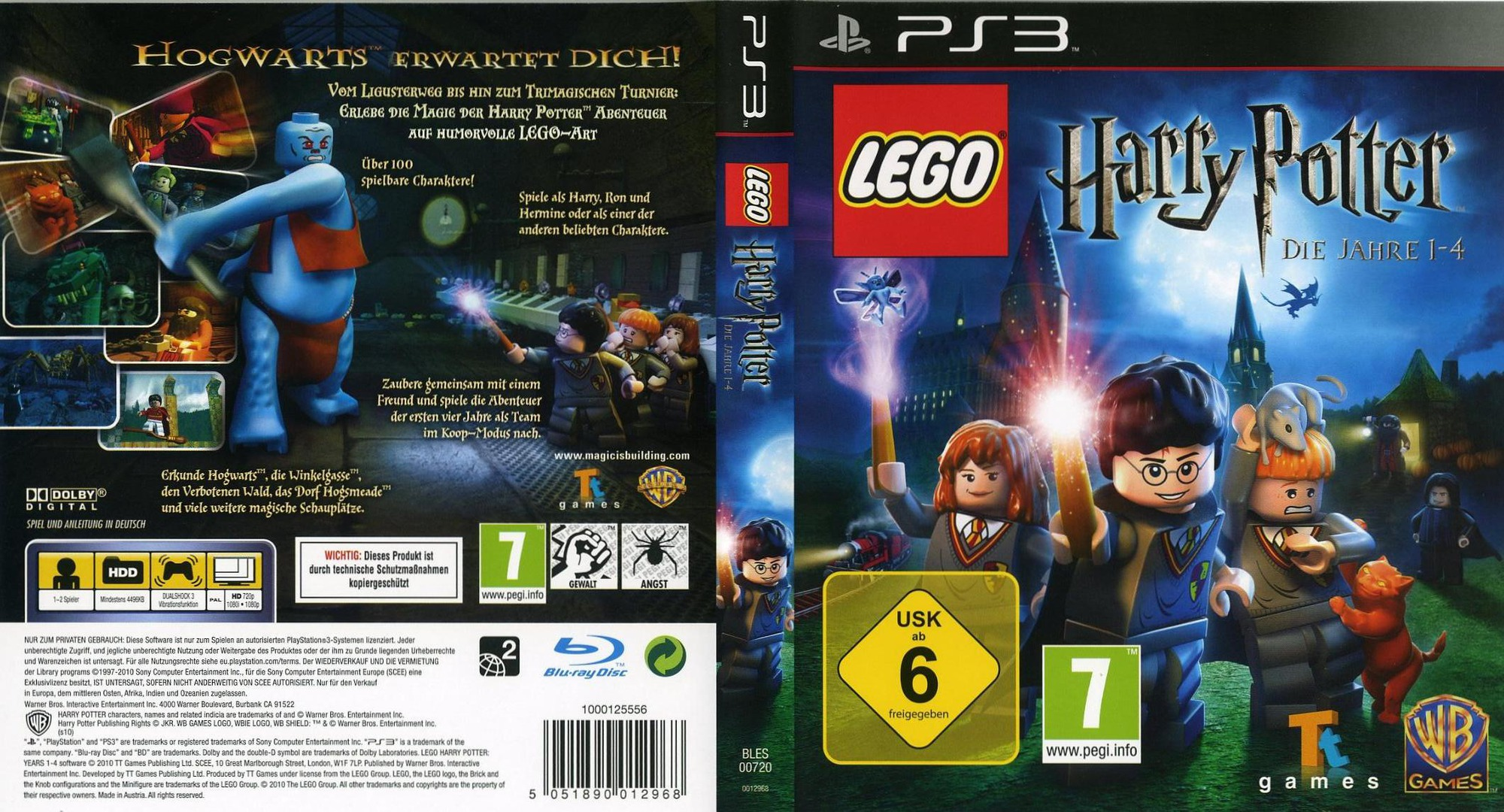 LEGO Harry Potter: Die Jahre 1-4 PS3 coverfullHQ (BLES00720)
