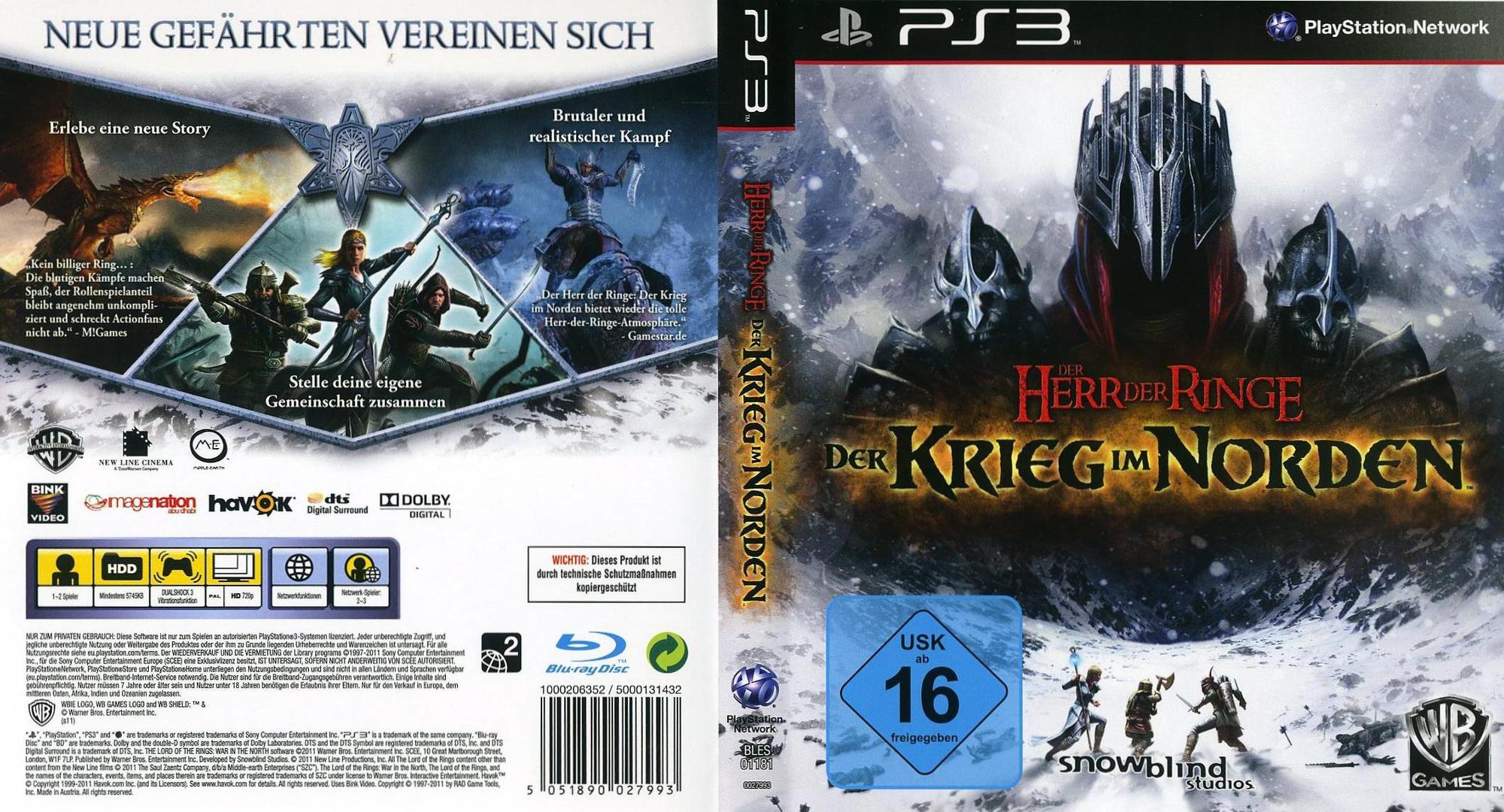 Der Herr der Ringe: der Krieg im Norden PS3 coverfullHQ (BLES01181)