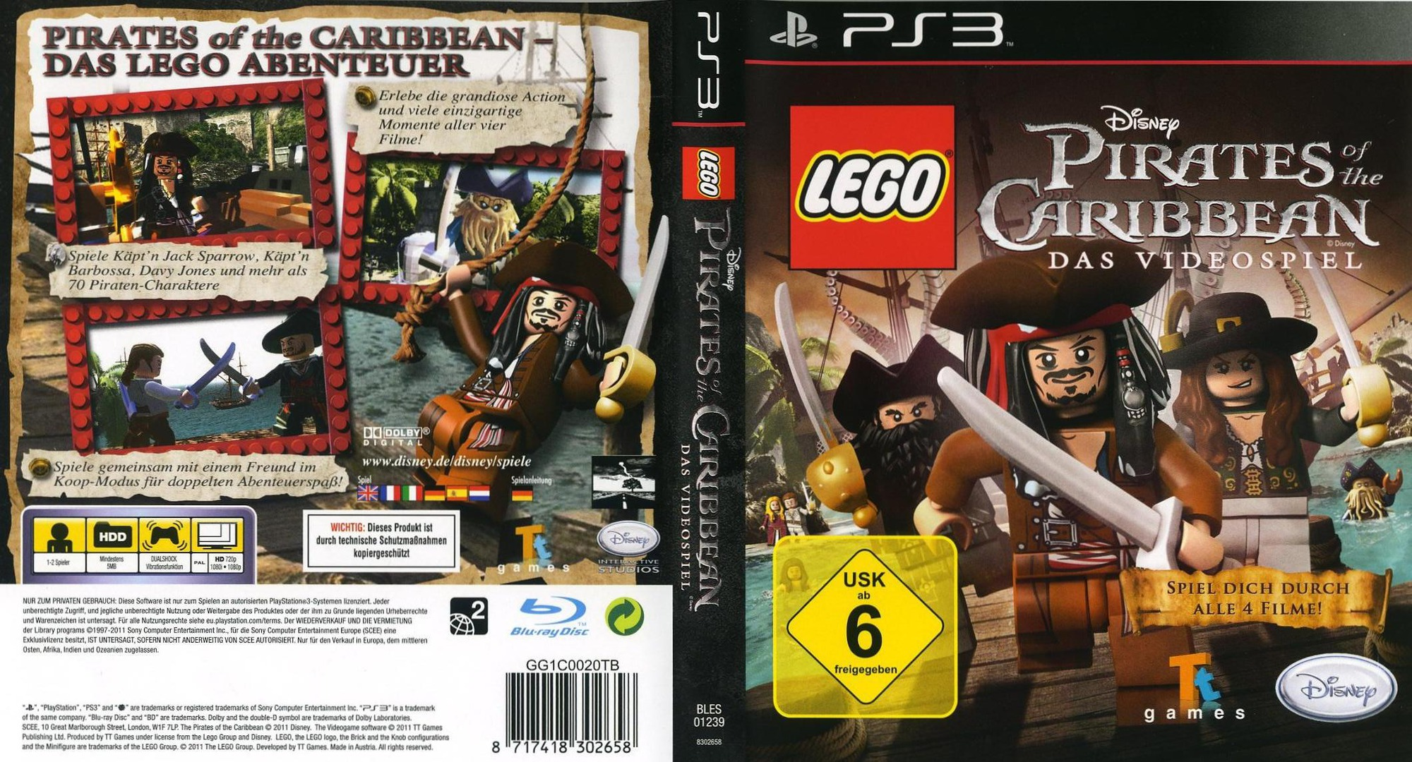 Pirates of the Caribbean: Das Videospiel PS3 coverfullHQ (BLES01239)