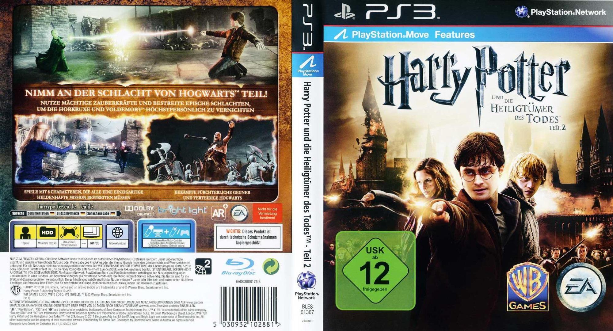 Harry Potter und die Heiligtümer der Todes - Teil 2 PS3 coverfullHQ (BLES01307)
