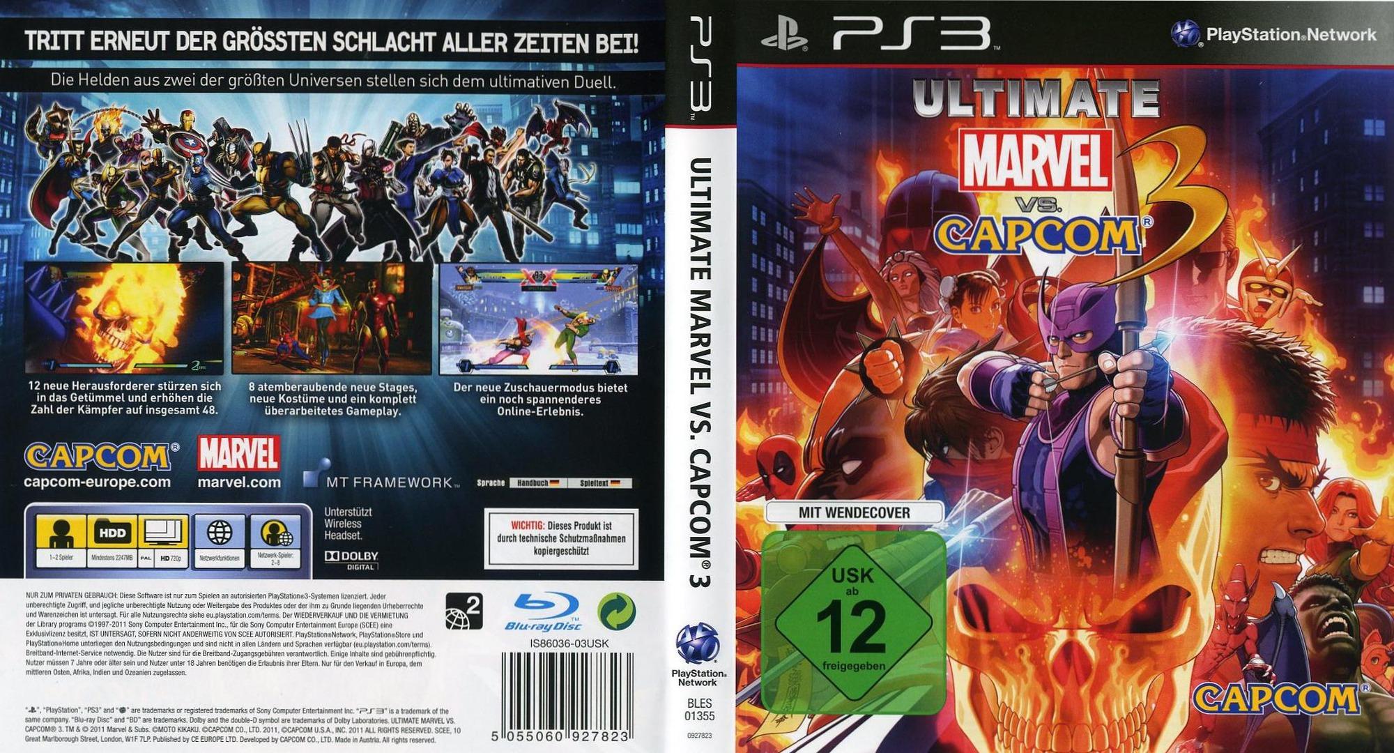 BLES01355 - Ultimate Marvel vs Capcom 3