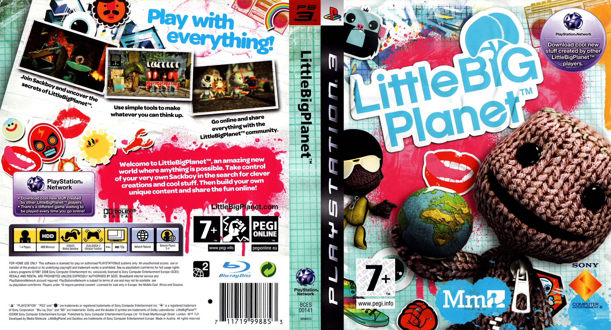 LittleBigPlanet PS3 coverfullHQ (BCES00141)