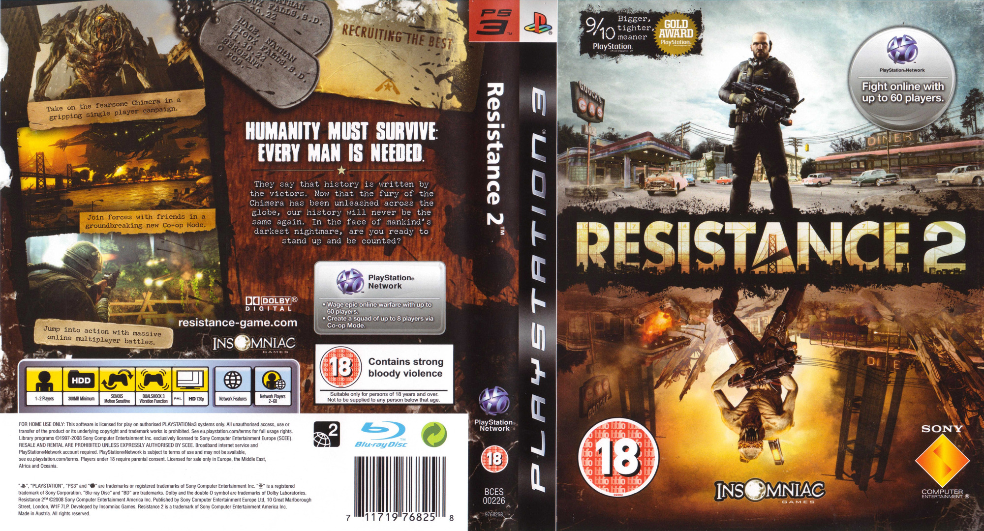 Resistance 2 PS3 coverfullHQ (BCES00226)