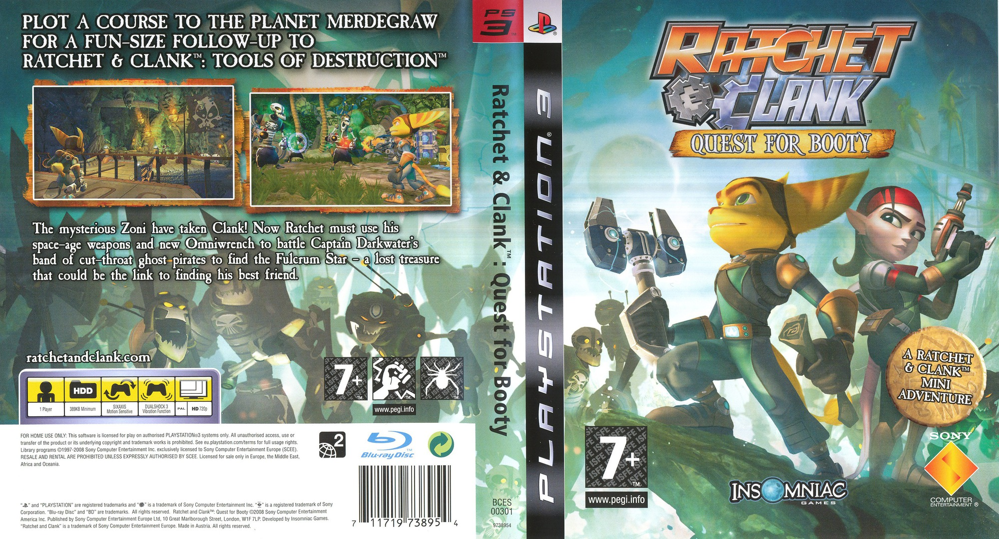 Ratchet & Clank: Quest for Booty PS3 coverfullHQ (BCES00301)