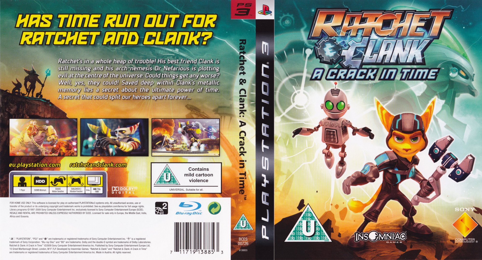 Ratchet & Clank: A Crack in Time PS3 coverfullHQ (BCES00726)