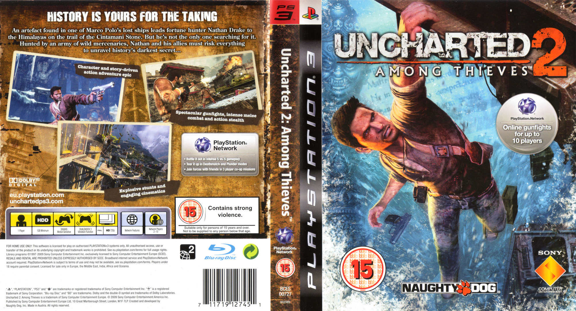 Uncharted 2: Among Thieves PS3 coverfullHQ (BCES00727)