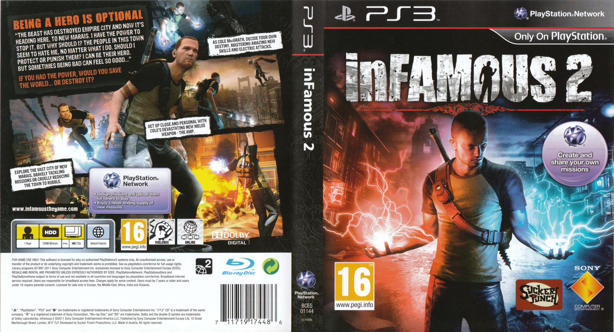 inFamous 2 PS3 coverfullHQ (BCES01144)