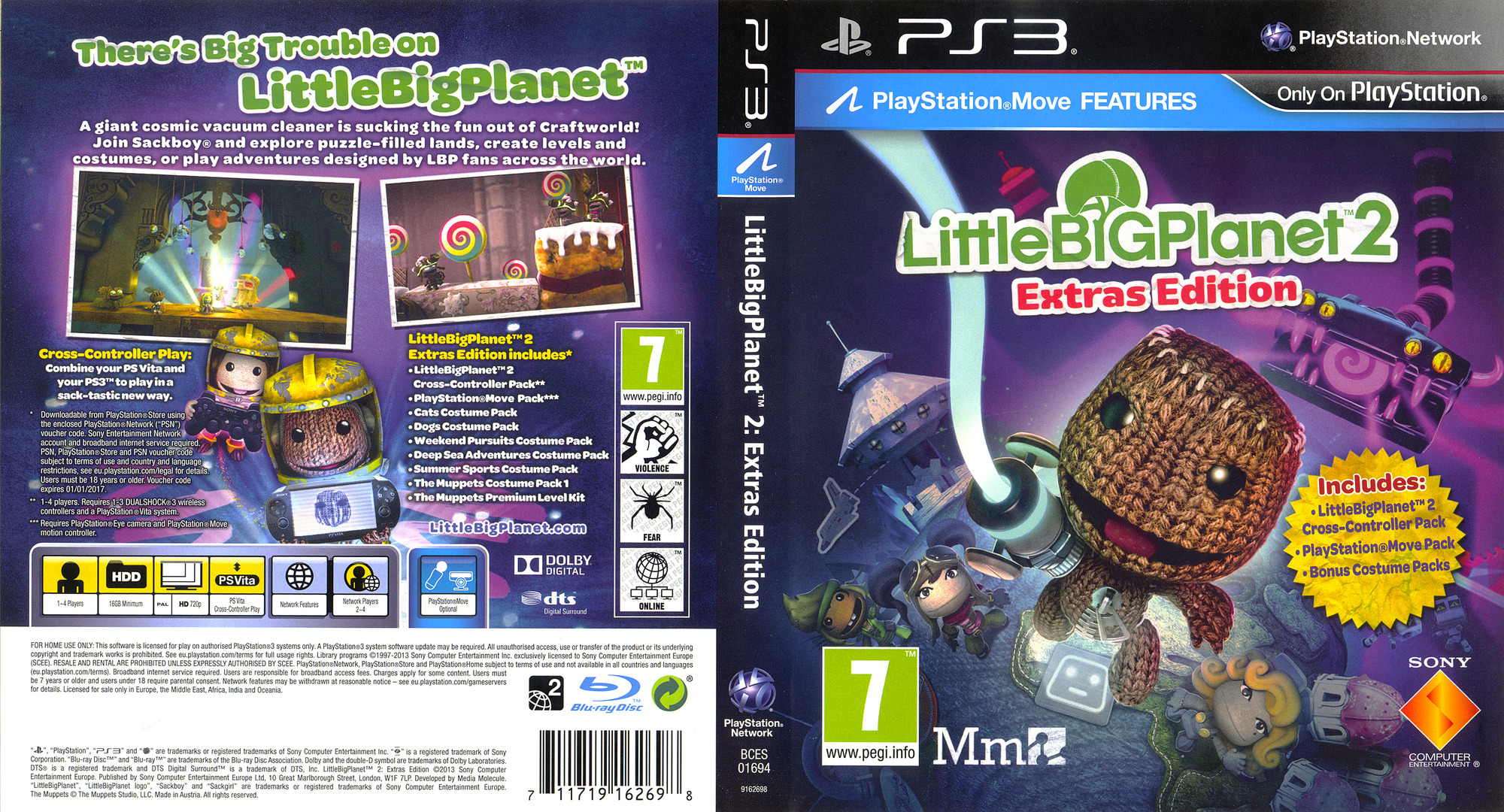 LittleBigPlanet 2 (Extras Edition) PS3 coverfullHQ (BCES01694)