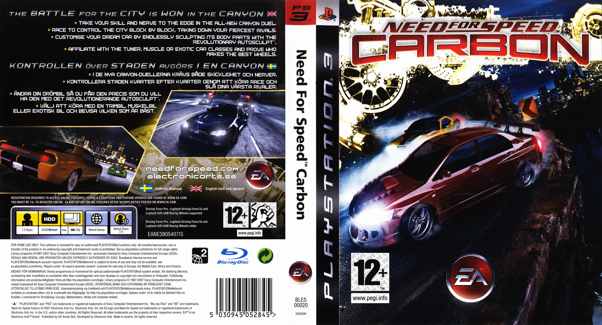 Need for Speed: Carbon PS3 coverfullHQ (BLES00020)