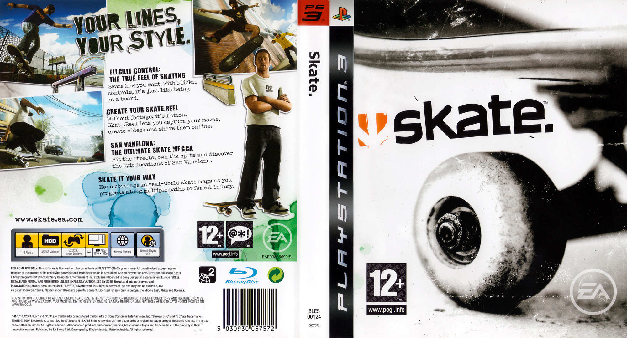 Skate PS3 coverfullHQ (BLES00124)