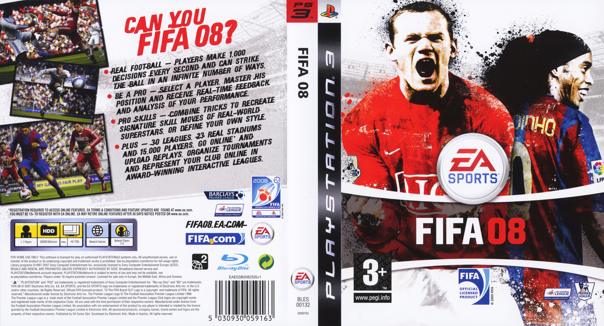 Release Date >> BLES00132 - FIFA 08