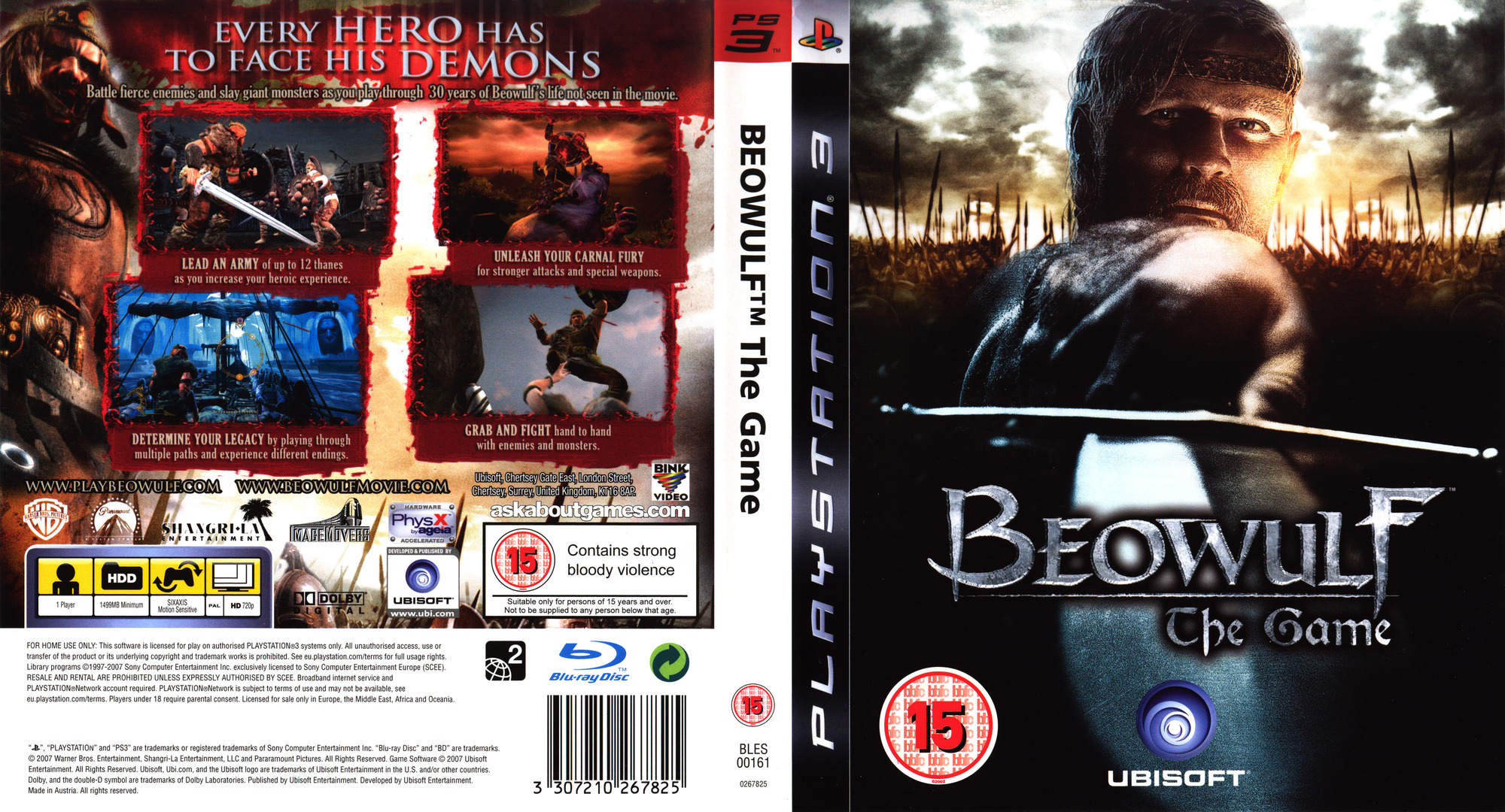 Beowulf: The Game PS3 coverfullHQ (BLES00161)