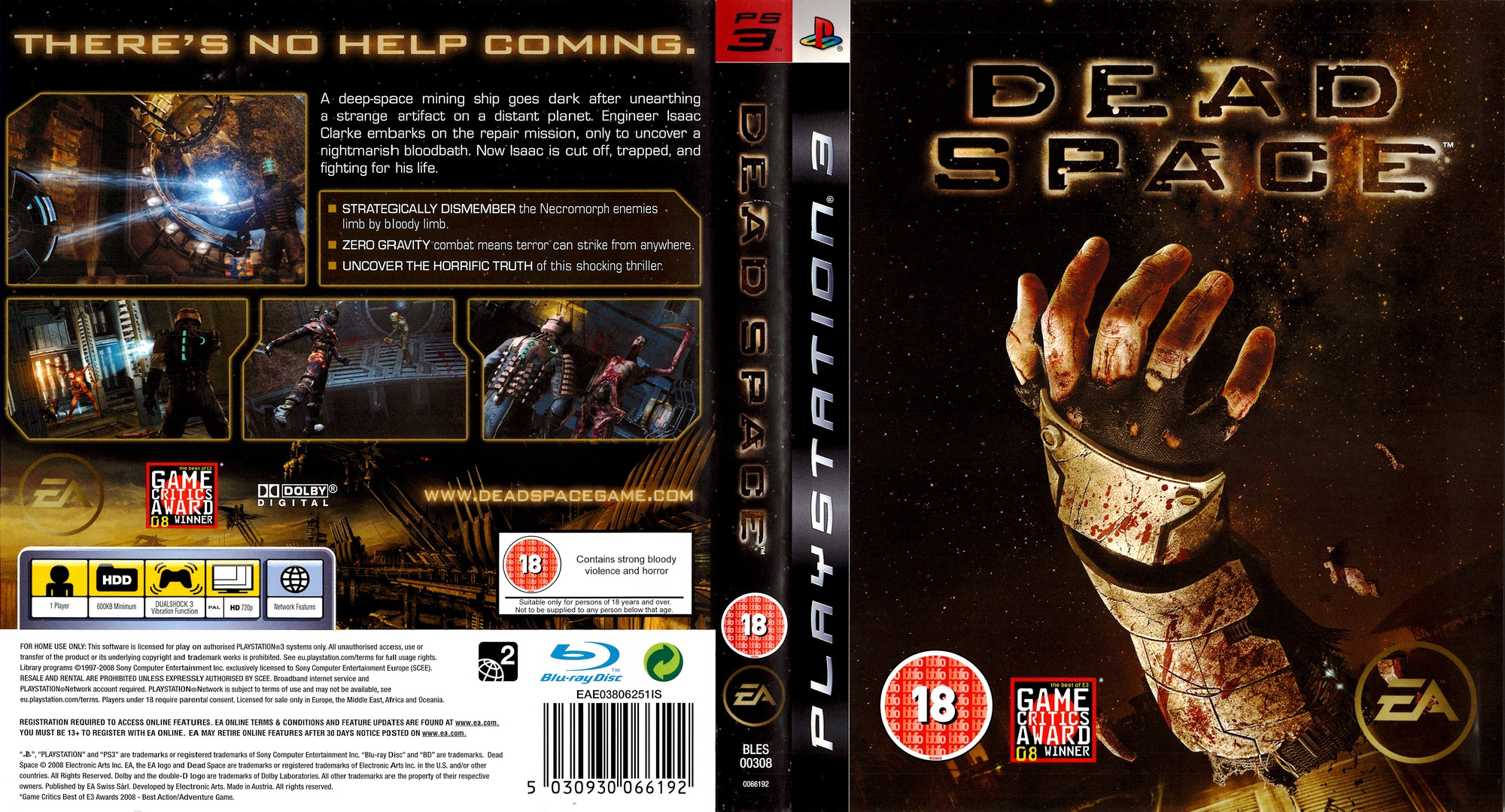 Dead Space PS3 coverfullHQ (BLES00308)