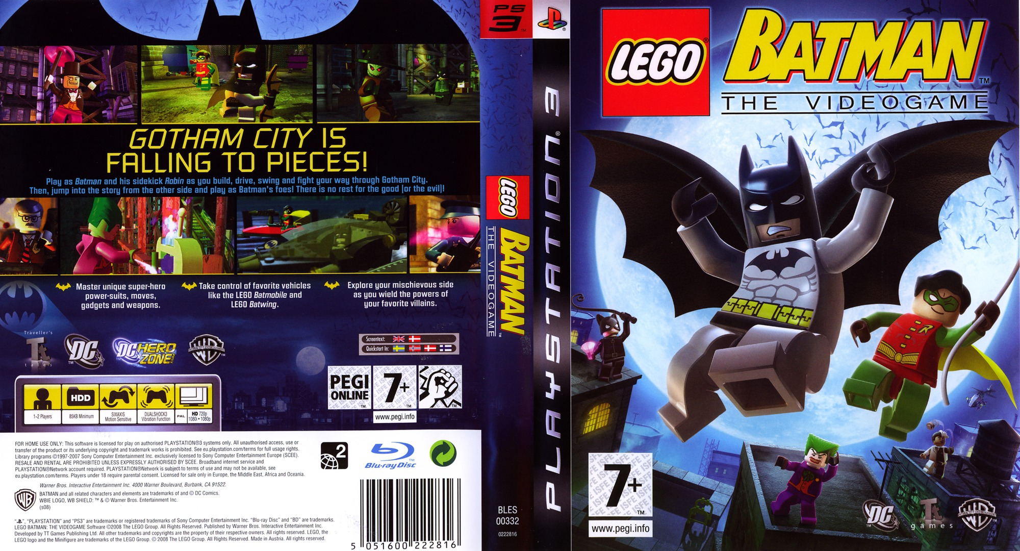 Release Date >> BLES00332 - LEGO Batman: The Videogame