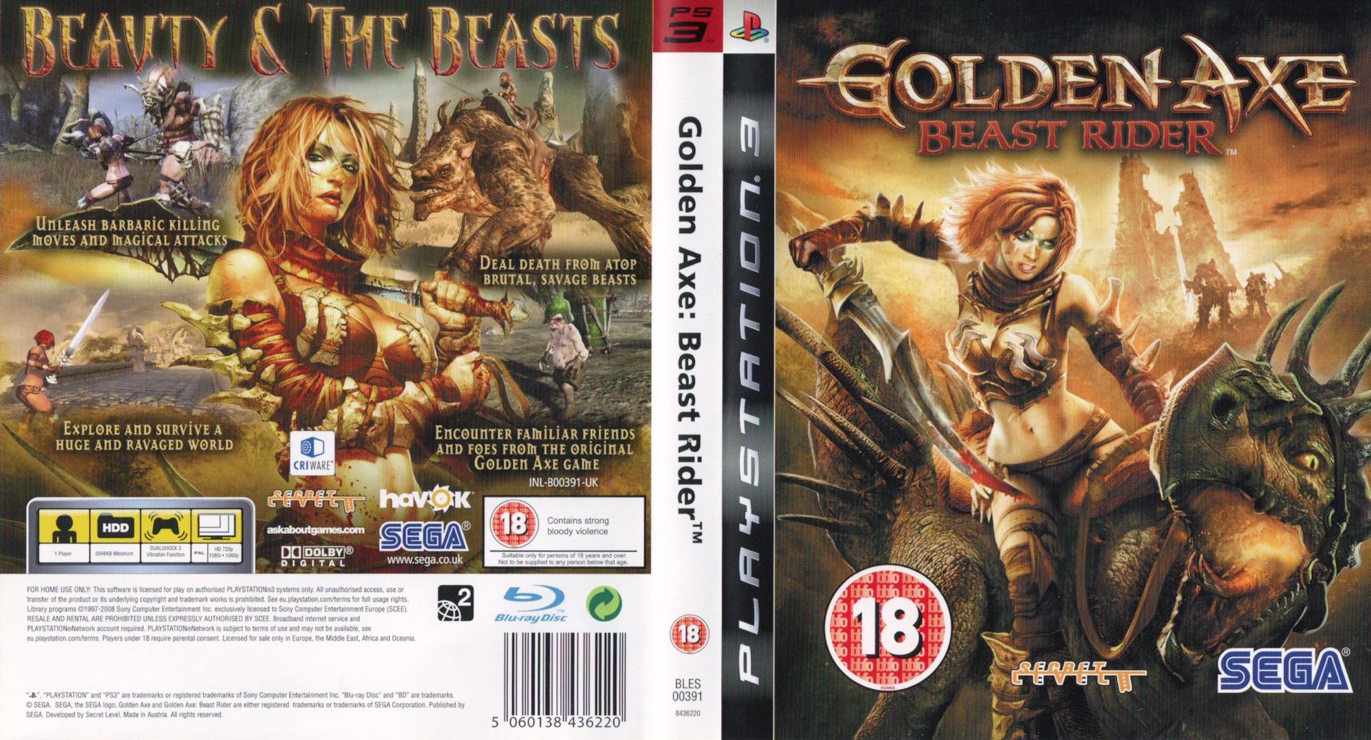 Golden Axe: Beast Rider PS3 coverfullHQ (BLES00391)