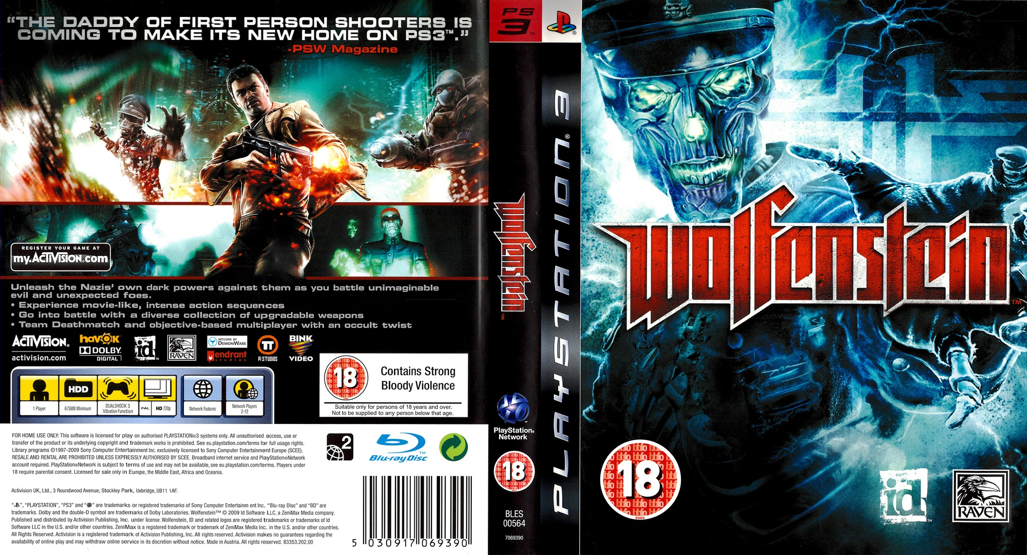 Wolfenstein PS3 coverfullHQ (BLES00564)