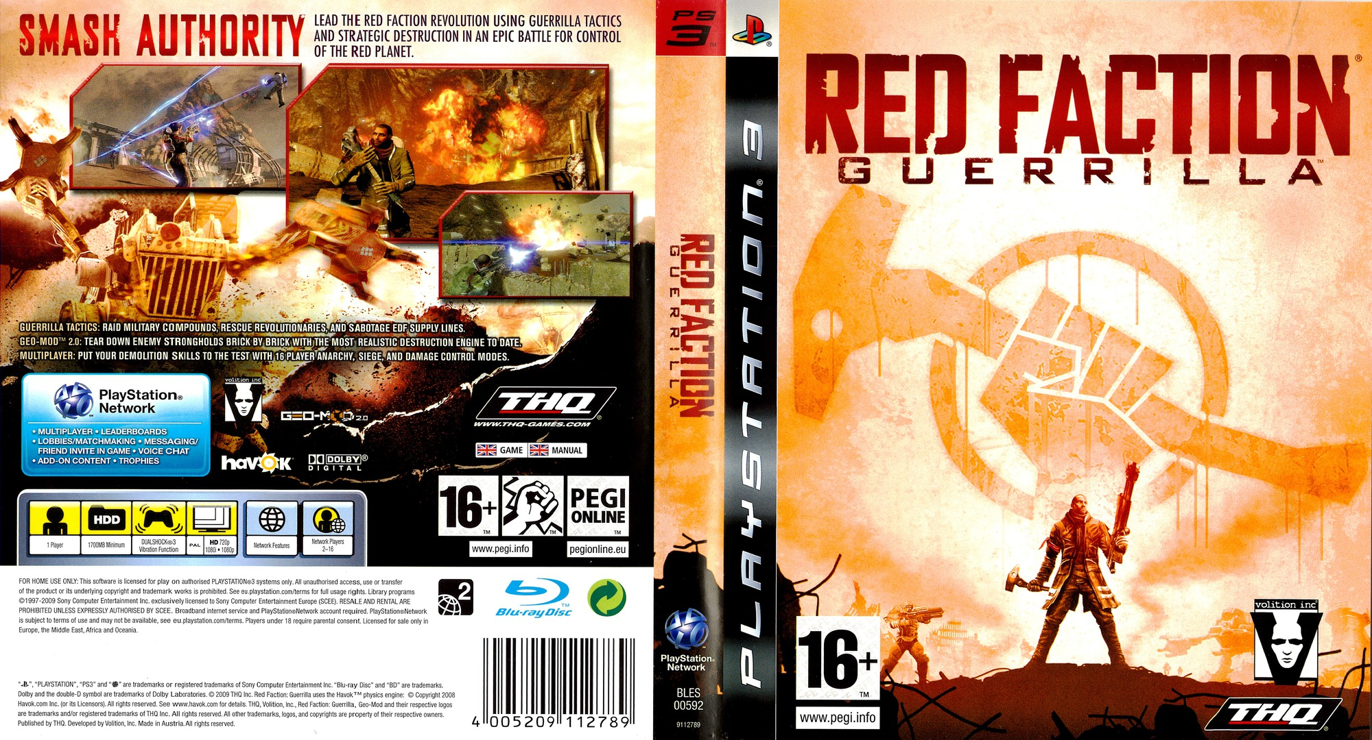 Red Faction: Guerrilla PS3 coverfullHQ (BLES00592)
