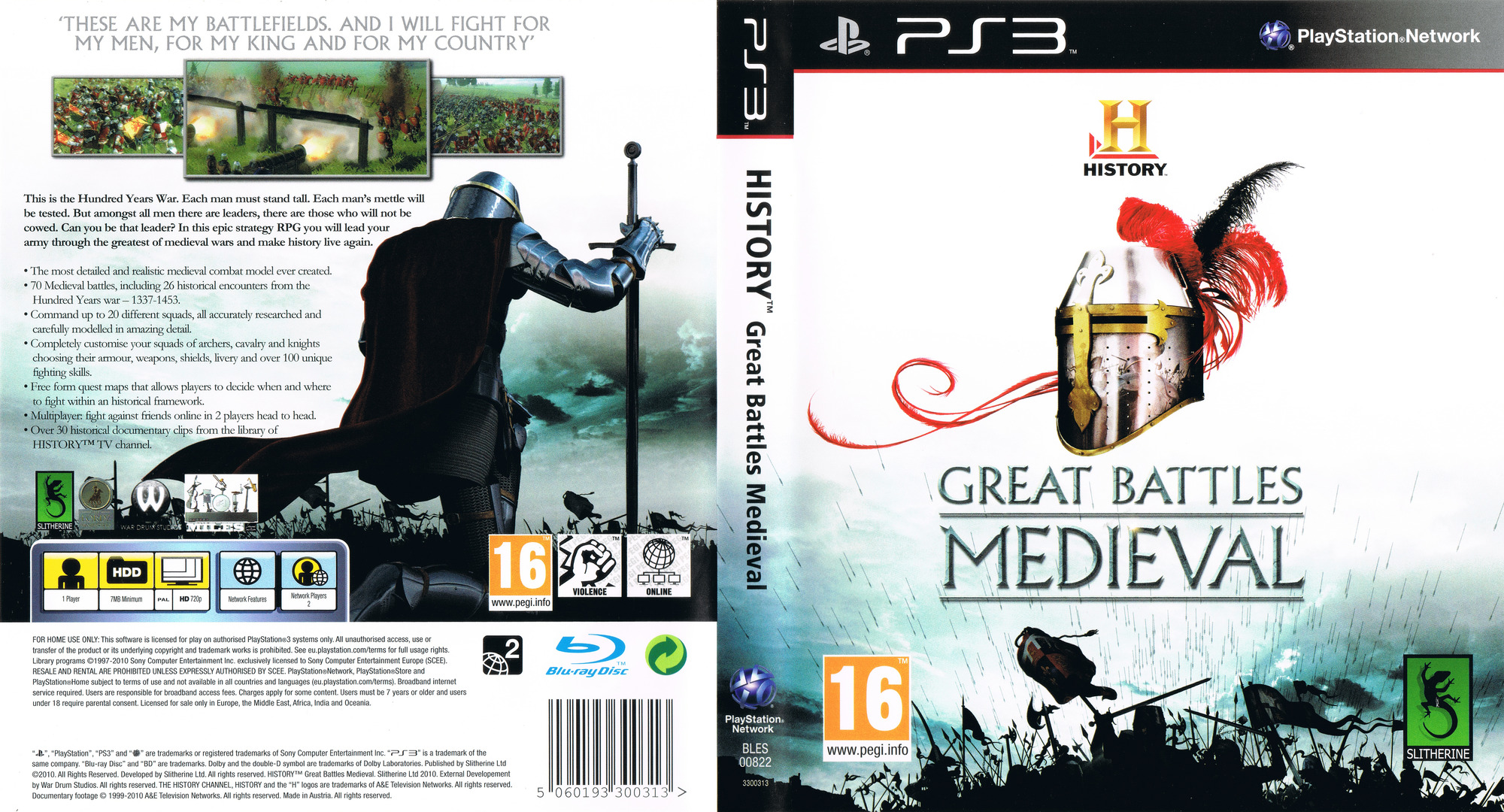 History: Great Battles Medieval PS3 coverfullHQ (BLES00822)