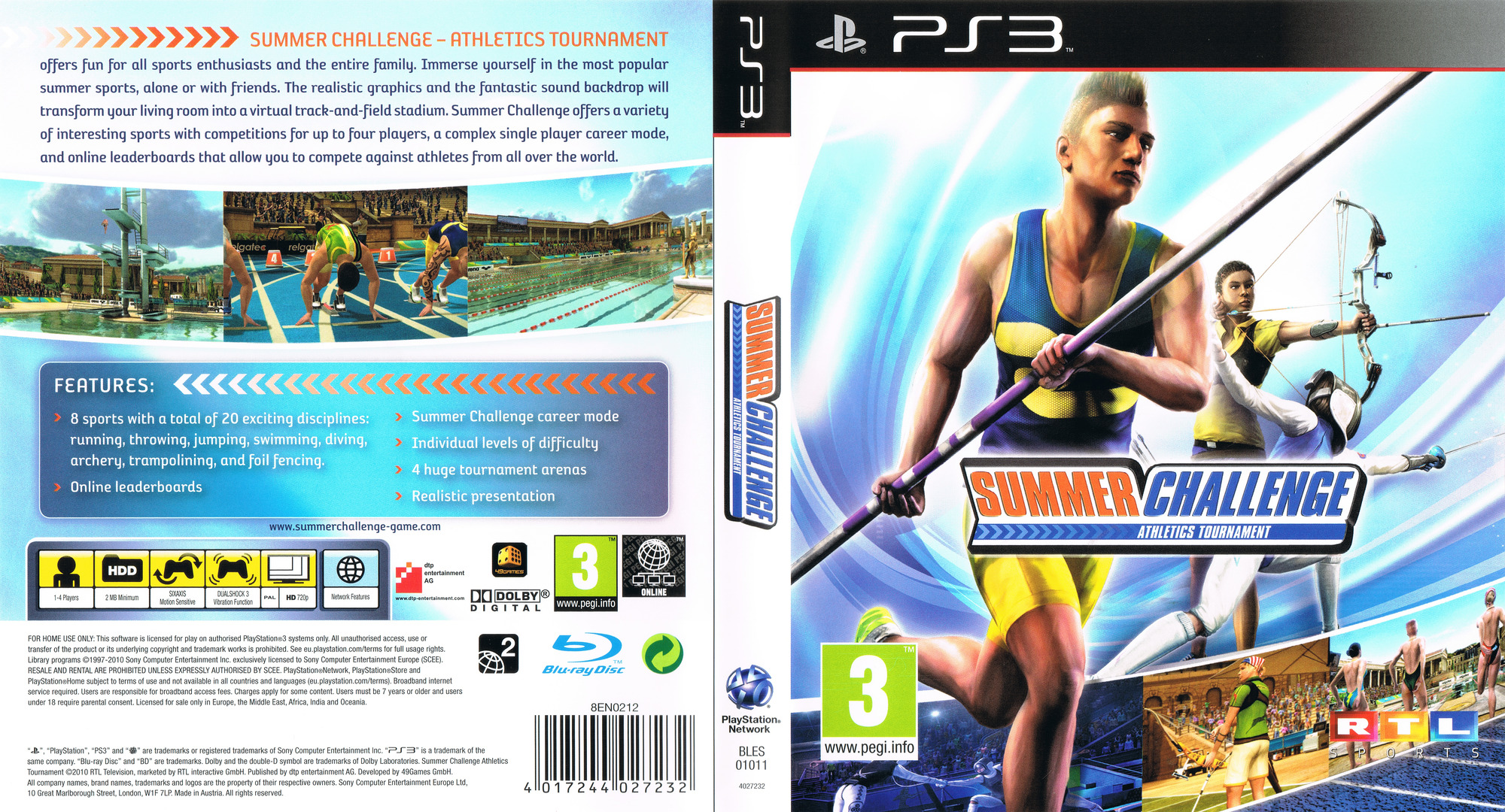 Summer Challenge: Athletics Tournament PS3 coverfullHQ (BLES01011)