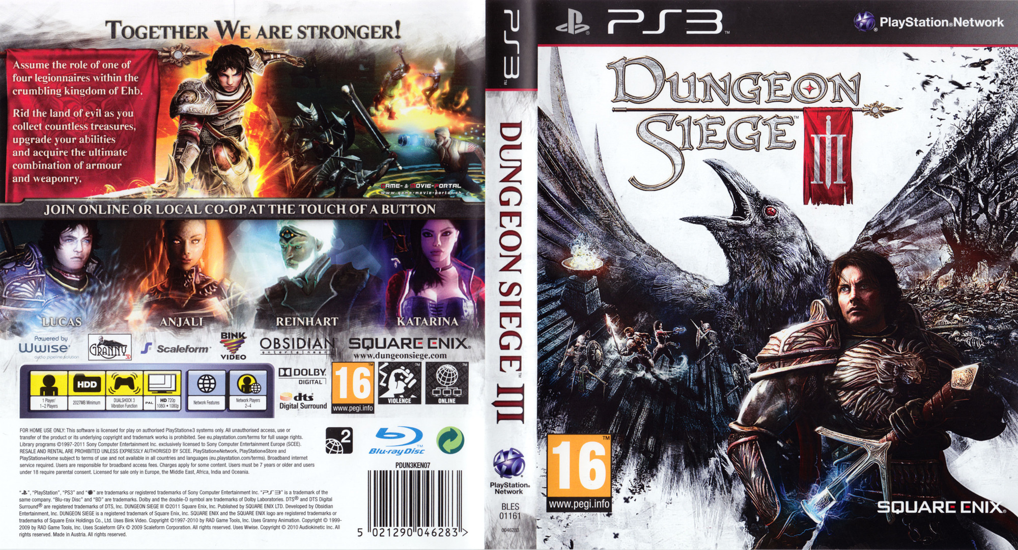 Dungeon Siege III PS3 coverfullHQ (BLES01161)