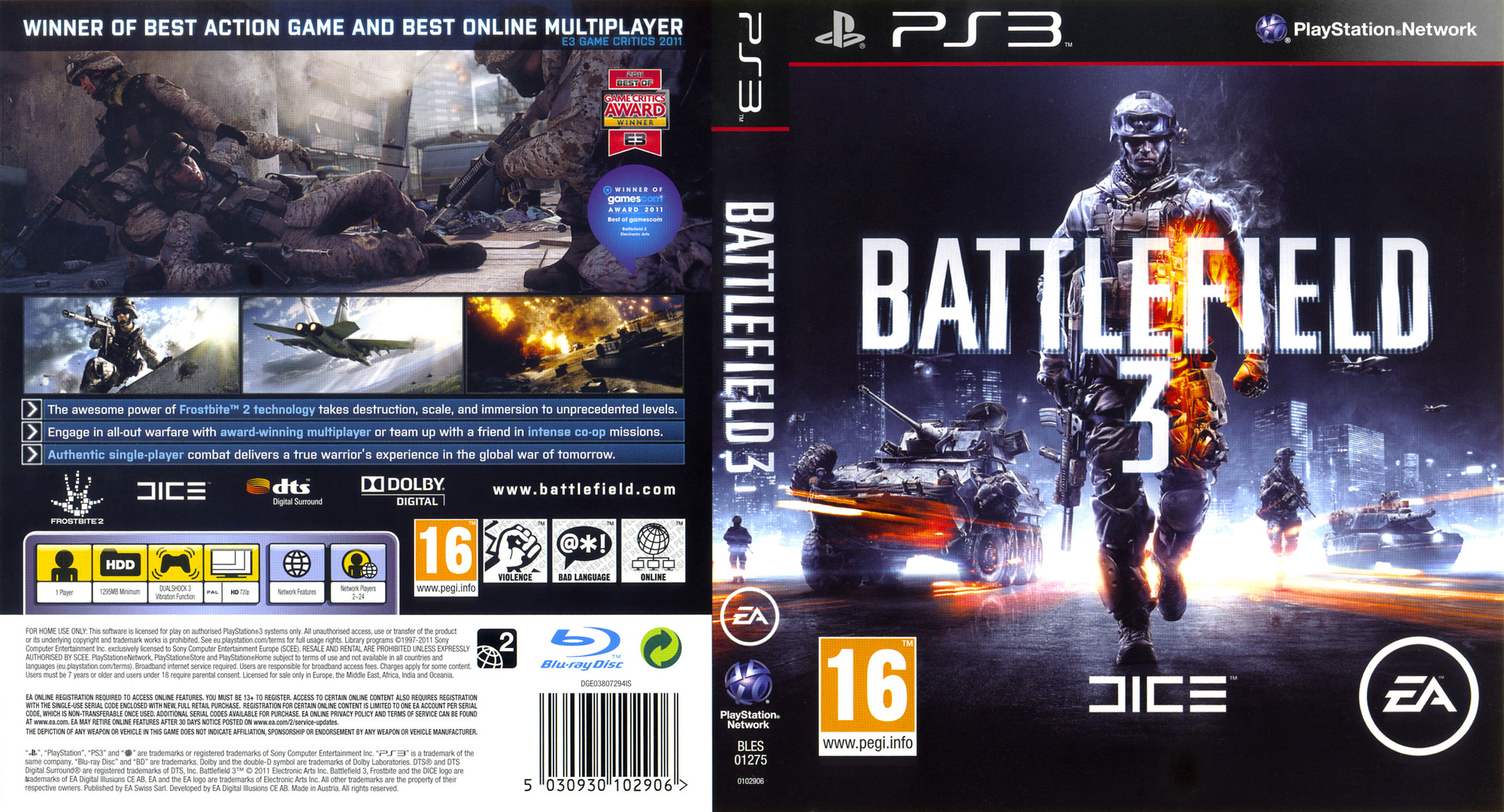 Battlefield 3 PS3 coverfullHQ (BLES01275)