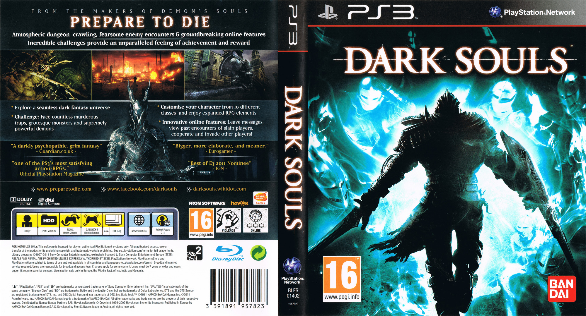 Dark Souls: Limited Edition PS3 coverfullHQ (BLES01402)
