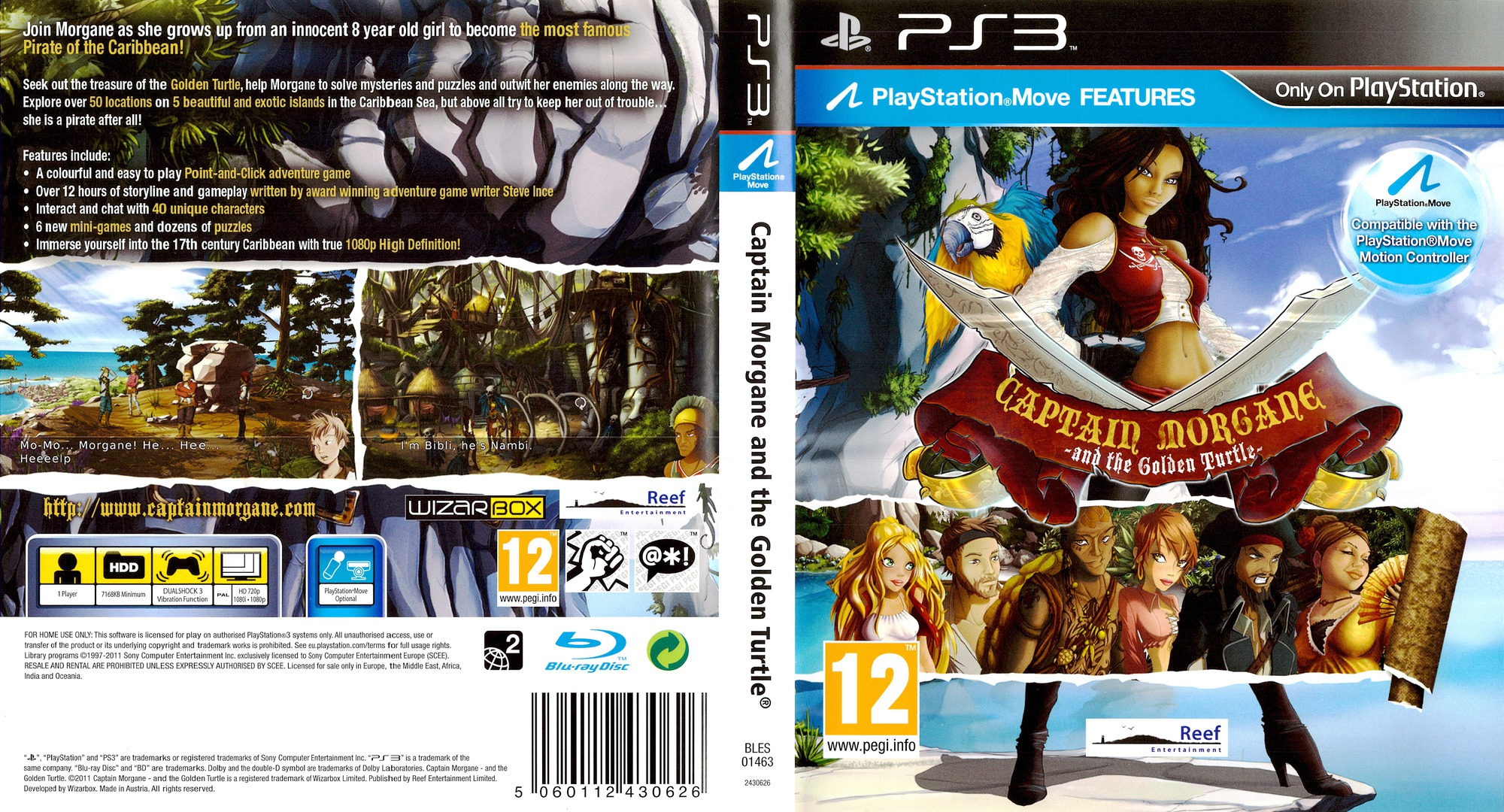 Captain Morgane and the Golden Turtle PS3 coverfullHQ (BLES01463)