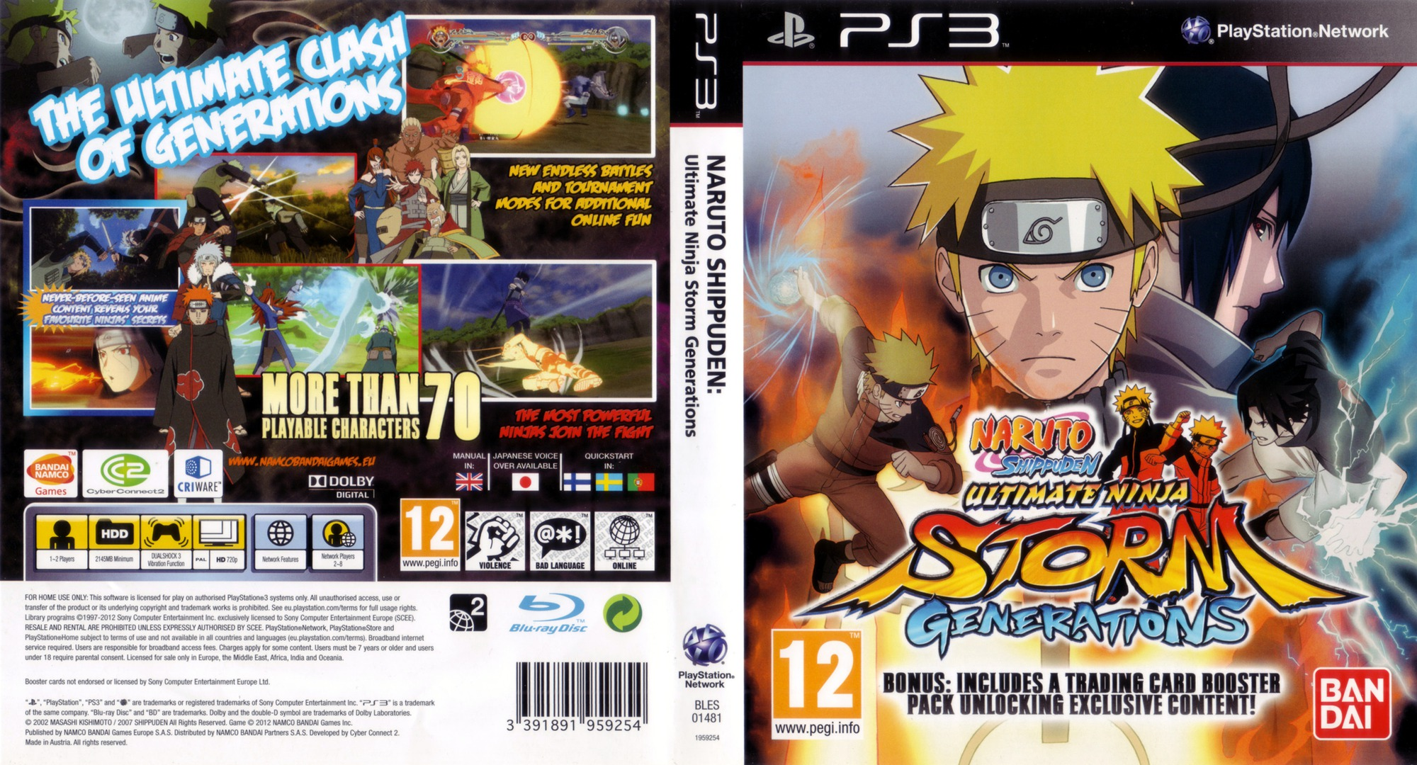 Naruto Shippuden: Ultimate Ninja Storm Generations PS3 coverfullHQ (BLES01481)