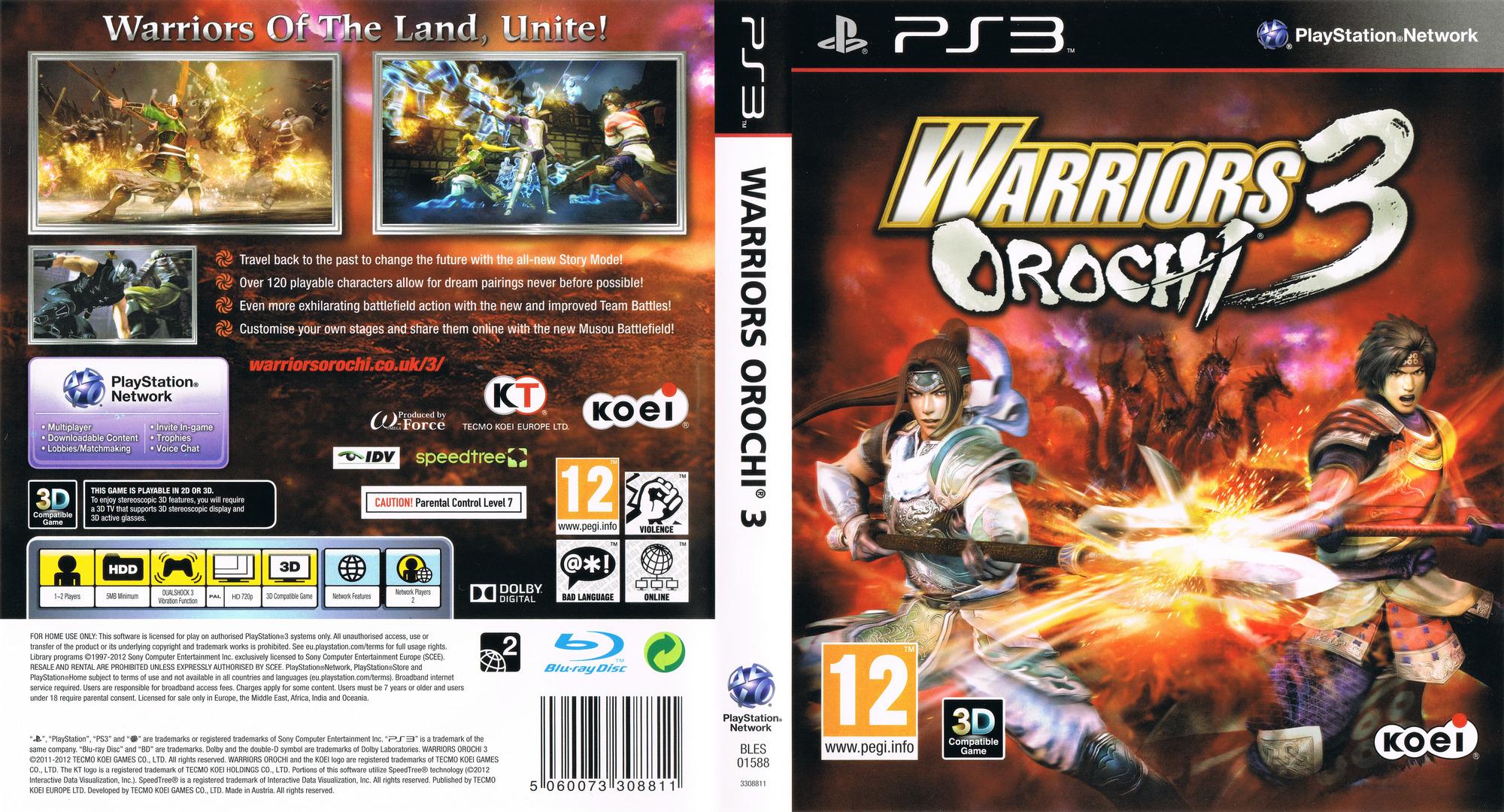 Warriors Orochi 3 PS3 coverfullHQ (BLES01588)