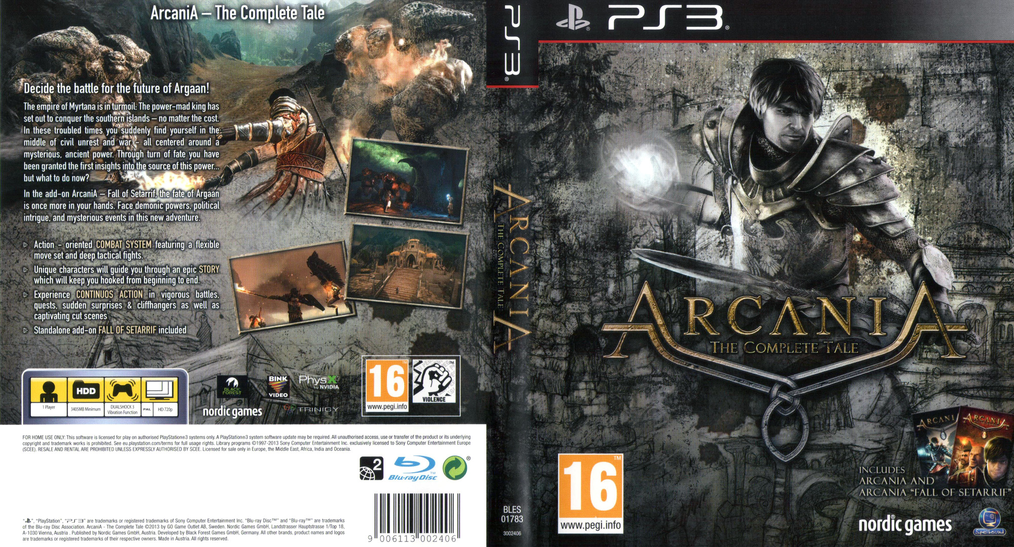 Arcania: The Complete Tale PS3 coverfullHQ (BLES01783)