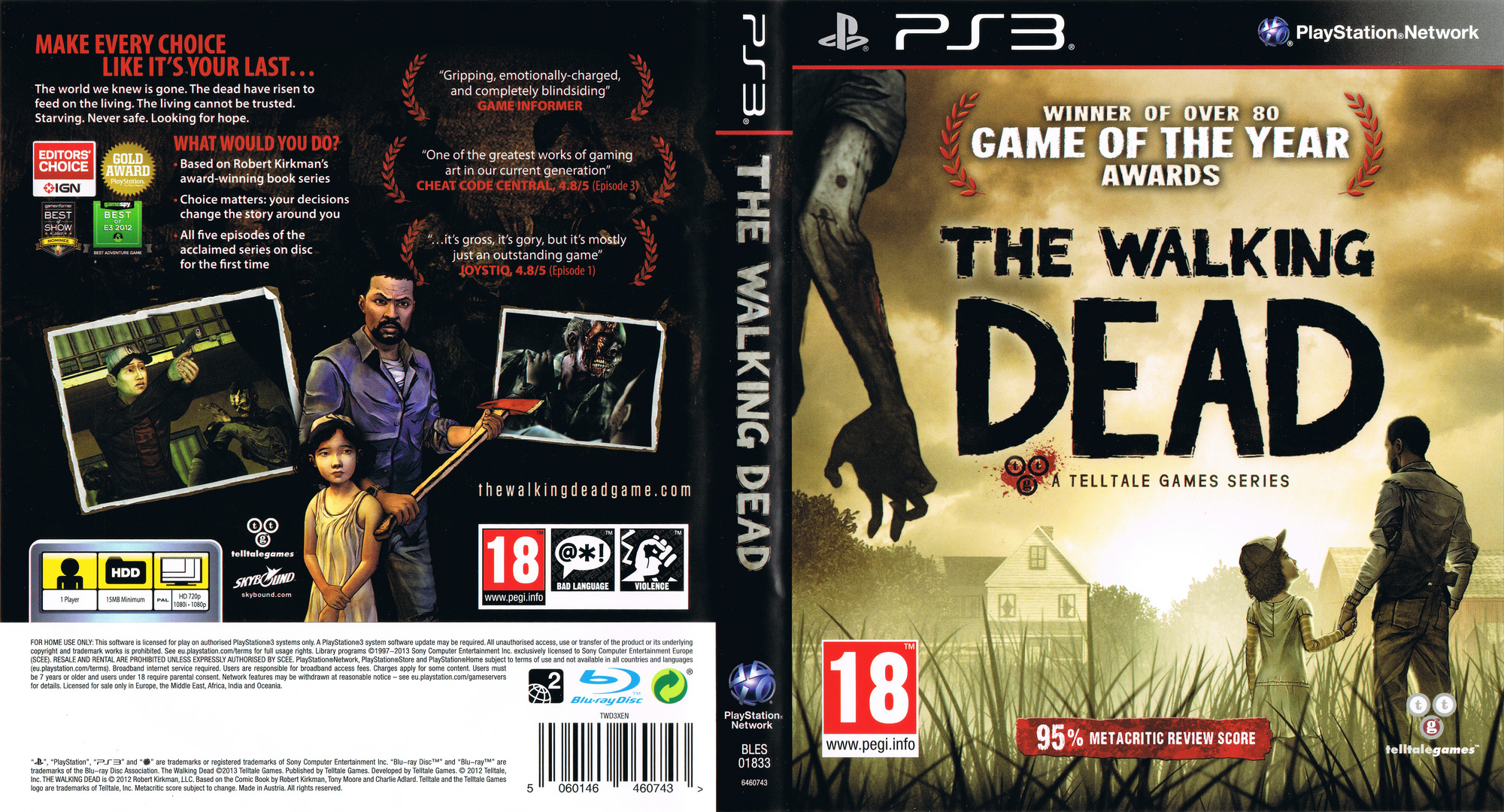 The Walking Dead: A Telltale Games Series PS3 coverfullHQ (BLES01833)