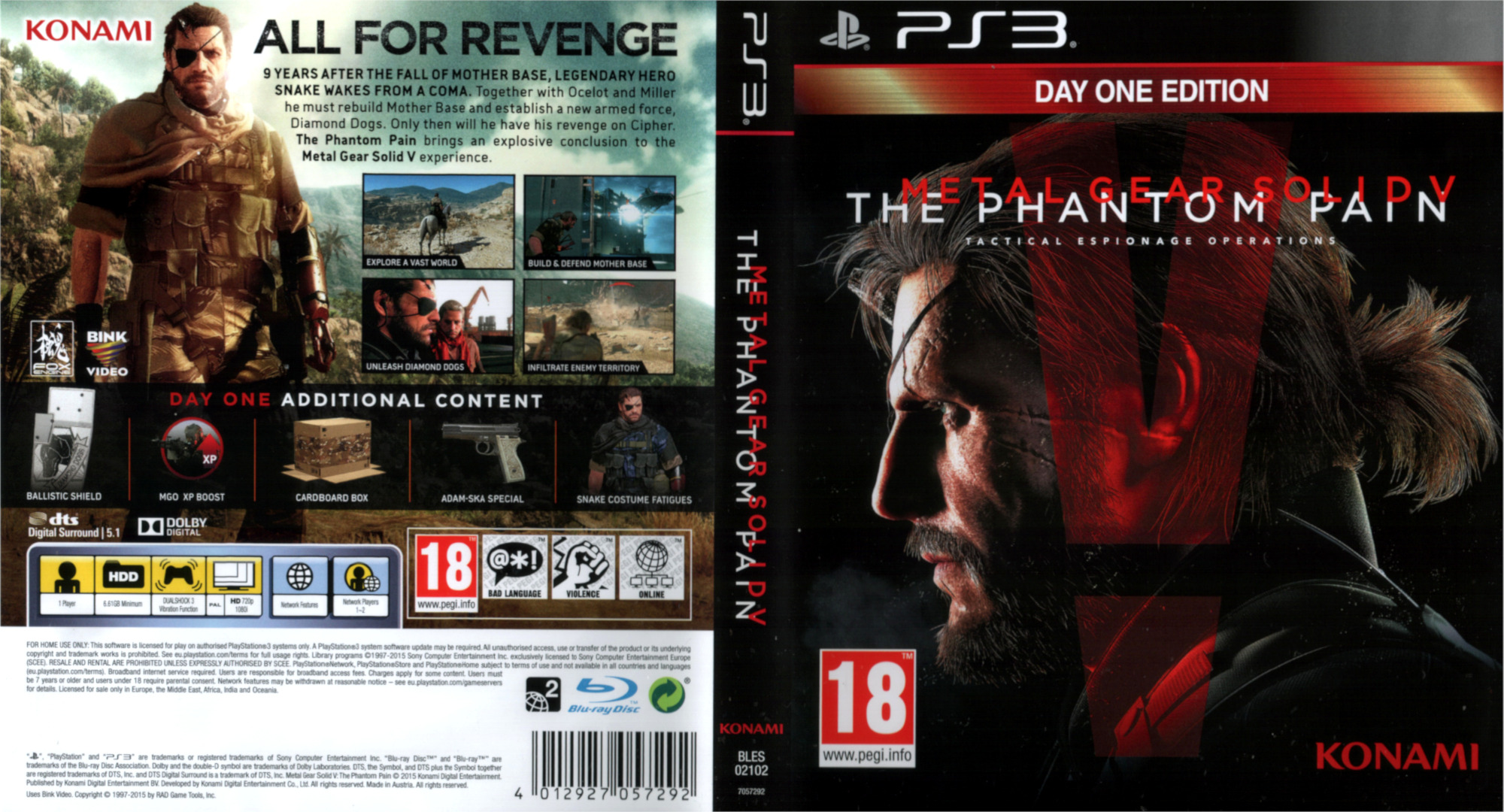 Metal Gear Solid V – The Phantom Pain PS3 coverfullHQ (BLES02102)