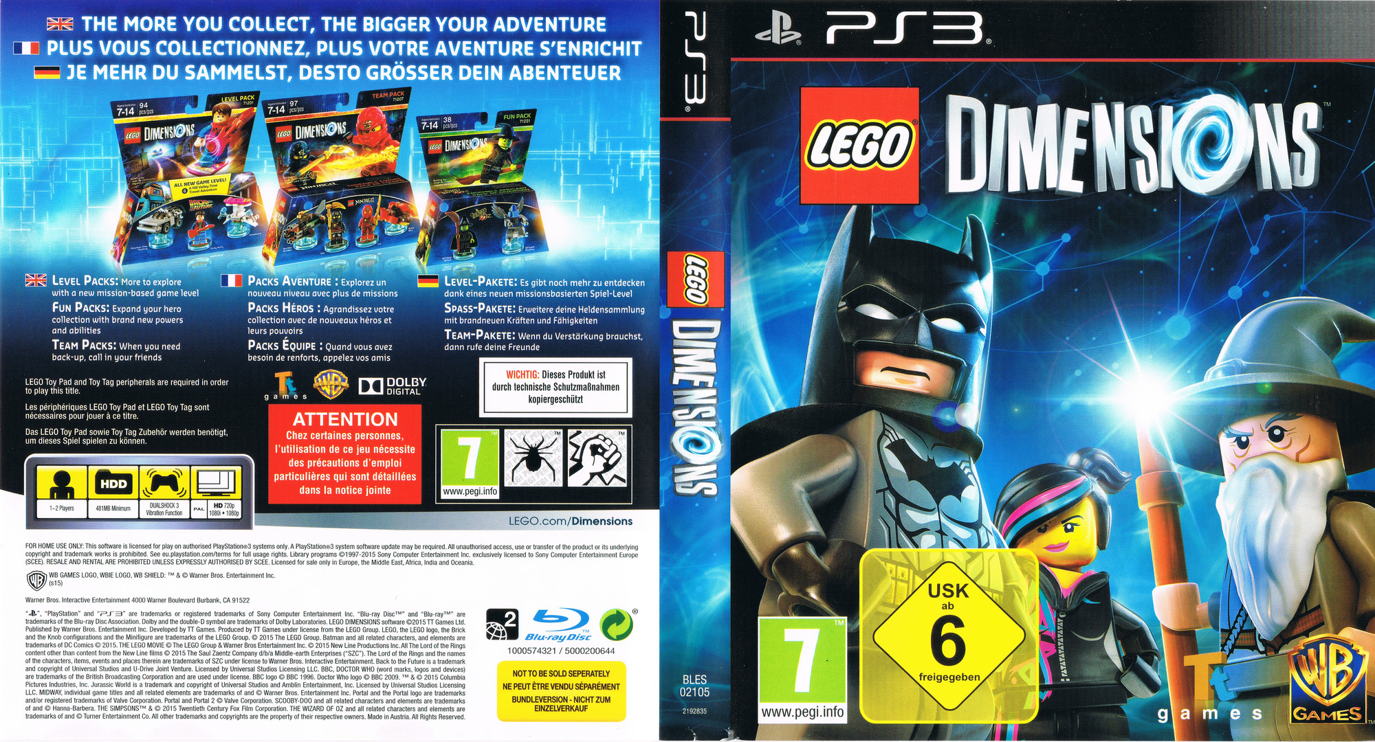 Lego Dimensions PS3 coverfullHQ (BLES02105)
