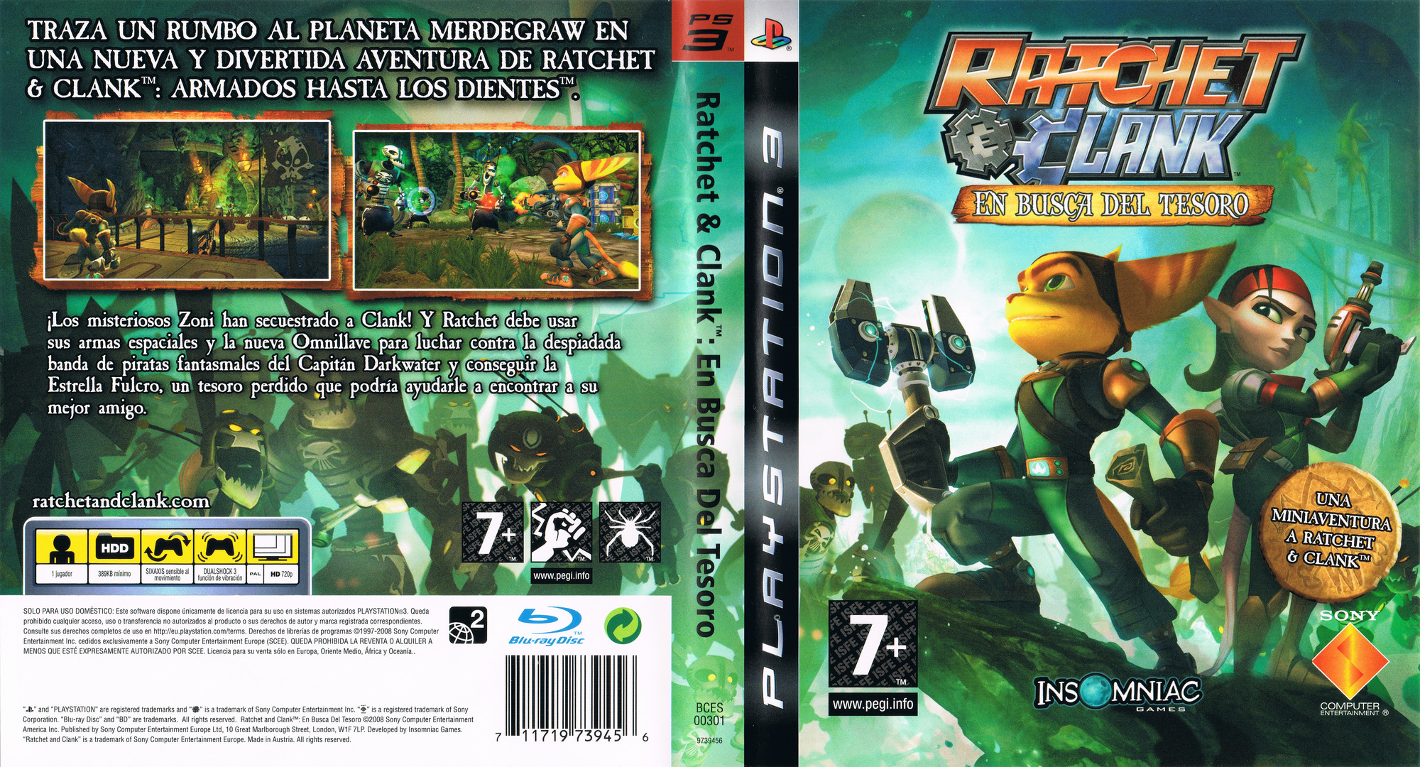 Ratchet & Clank: En busca del tesoro PS3 coverfullHQ (BCES00301)