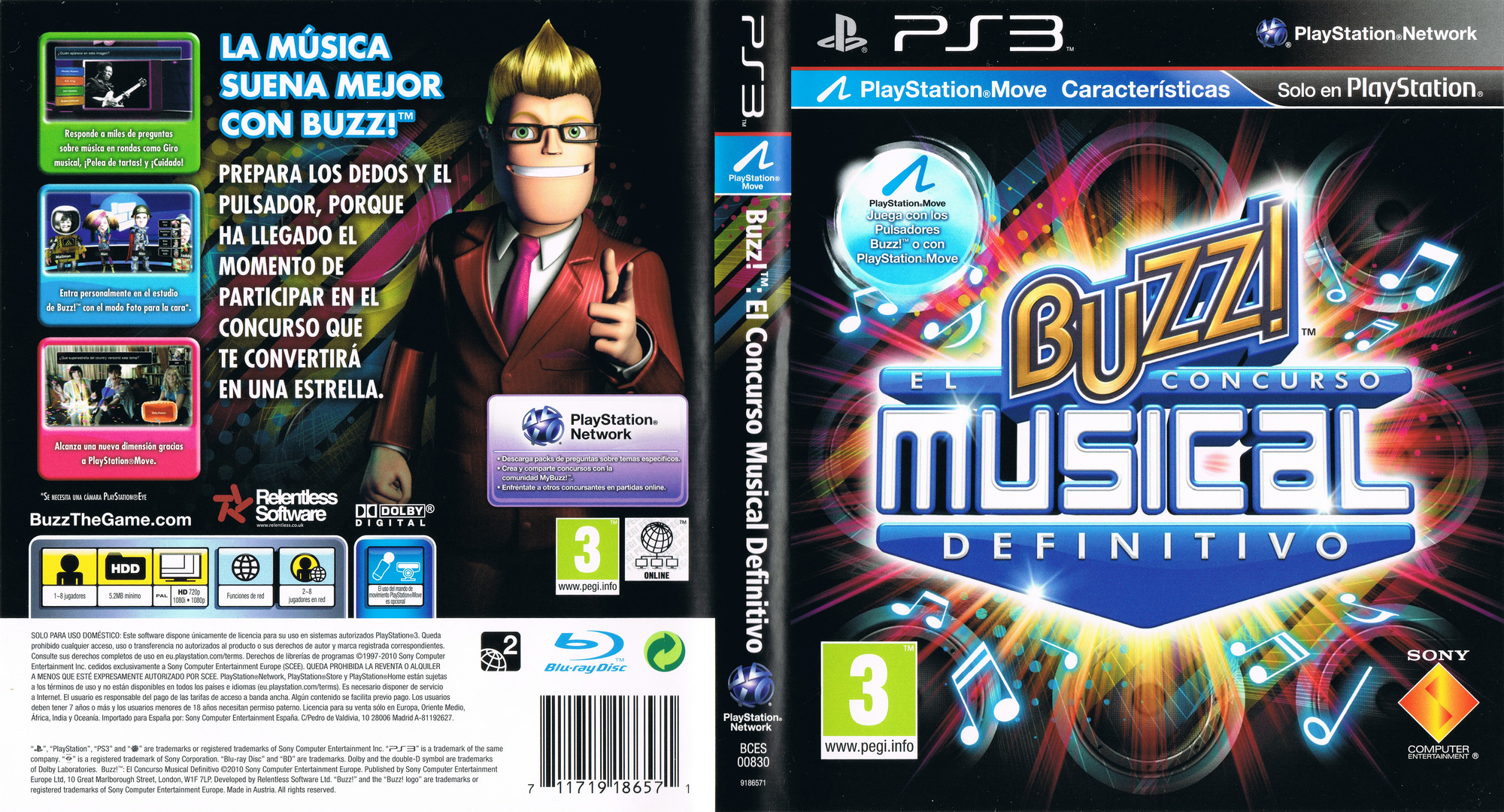 Buzz! El Concurso Musical Definitivo PS3 coverfullHQ (BCES00830)